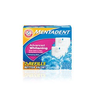 Mentadent Advanced Whitening Fluoride Toothpaste w/Baking Soda and Peroxide
