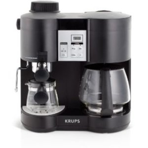 Krups Coffee Maker Reviews Ratings : KRUPS Coffee Maker and Espresso Machine Combination XP160050 Reviews Viewpoints.com