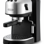 DeLonghi 15-Bar-Pump Espresso Machine, Black and Stainless