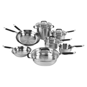 Calphalon Kitchen Essentials Stainless Steel 12-pc. Cookware Set