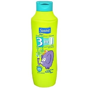 Suave Kids Splashing Apple Toss 3 in 1 Shampoo, Conditioner & Body Wash