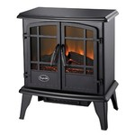 Comfort Glow Keystone Electric Stove with Thermostat, Black