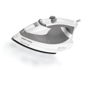 Black & Decker Quickpress Iron with Smart Steam Technology and Stainless Steel Soleplate