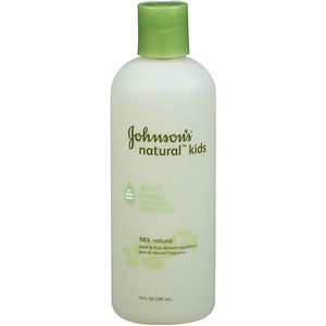 Johnson's Natural Kids 3-in-1 Shampoo, Conditioner & Body Wash