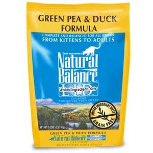 Natural Balance Green Pea & Duck Formula Dry Cat Food