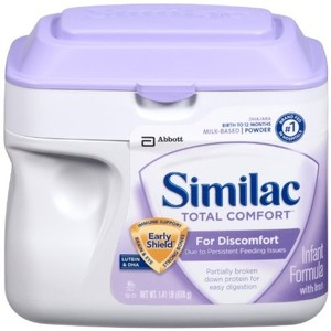 Similac Total Comfort Protein Powder, 4 Count ,1.41lb (Packaging May Vary)