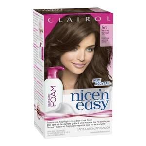 Clairol Nice 'n Easy Foam Hair Color 5G Medium Golden Brown 1 Kit (packaging may vary)