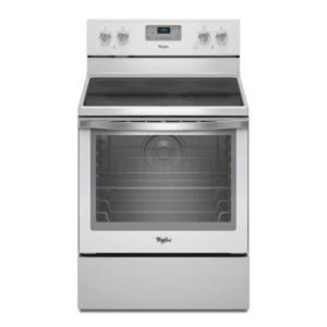 6.2 cu. ft. Electric Range with Self-Cleaning Convection Oven in White Ice