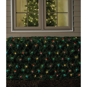 ge christmas net light multi 150 lt