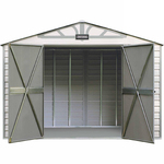 Craftsman 10-ft. x 7-ft. Vinyl-Coated Steel Shed - CVCS107 - Exclusive VersaTrack™ Compatibility