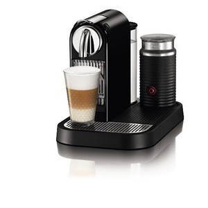 Nespresso D121-US-BK-NE1 Citiz Espresso Maker with Aeroccino Milk Frother, Black