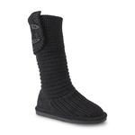 Bearpaw Girl's Knit Tall Black Boot