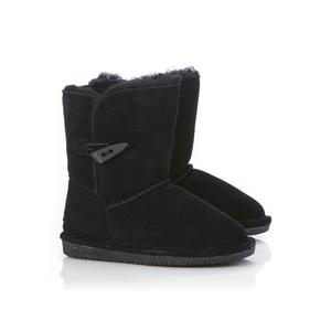 Bearpaw Toddler Girl's Abigail Black Winter Boot
