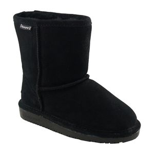Bearpaw Girl's Emma Suede Fashion Short Boot - Black