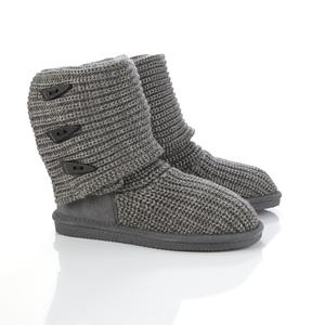 Bearpaw Women's Knit Fashion Boot - Grey