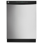 "Kenmore 24"" Built-In Dishwasher w/ PowerWave™ Spray Arm - Stainless Steel"