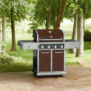 Kenmore Elite 600 Series 4 Burner Dual Fuel Maroon Metallic Gas Grill