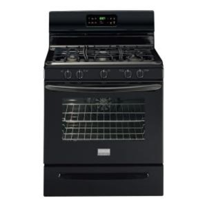 Gallery 30 in. 5.0 cu. ft. Gas Range with Self-Cleaning Convection Oven in Black