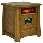 Lifesmart Corp Lifelux Series Ultimate 8 Element Extra Large Room Infrared Heater W/ Air Ionizer System Deluxe Wood Cabinet & Remote
