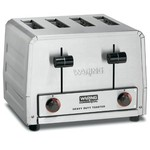 Waring Commercial WCT805 Heavy Duty Stainless Steel Standard Toaster with 4 Slots, 12-Amp