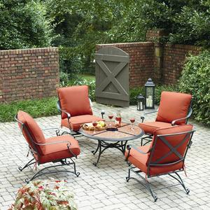 Grand Resort Keaton 5 Piece Chat Set with Granite *Limited Availability