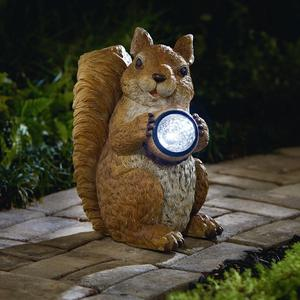 Garden Oasis Squirrel with Solar Acorn *Limited Availability