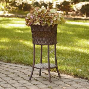 Ty Pennington Style Wicker Round Plant Stand