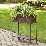 Ty Pennington Style Wicker Rectangle Plant Stand