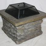 Garden Oasis Slate Rock Fire Pit