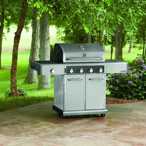 Kenmore Elite 600 Series 4 Burner Dual Fuel Stainless Steel Gas Grill *Limited Availability