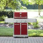 Kenmore Elite 550 Series 3 Burner Dual Fuel Vermillion Red Gas Grill