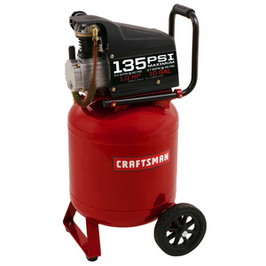 Craftsman 10 Gallon 135PSI oil-lube portable air compressor