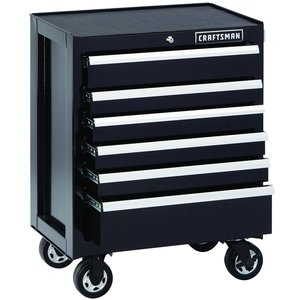Craftsman 6-Drawer Premium Heavy-Duty Rolling Cabinet - Black