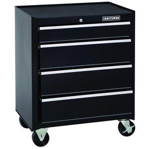 Craftsman 26 in. 4-Drawer Standard Duty Ball Bearing Rolling Cabinet - Black