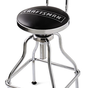 Craftsman Chrome/Vinyl Hydraulic Stool