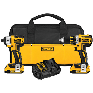 DeWalt 20 V MAX* XR Lithium Ion Brushless Compact Drill / Driver & Impact Driver Combo Kit