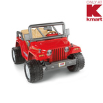 Power Wheels Red Jeep Rubicon by Fisher Price