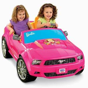 Power Wheels Barbie Ford Mustang - Pink