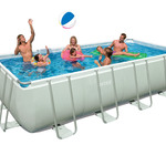 "Intex 18' x 9' x 52"" Ultra Frame Rectangular Swimming Pool"