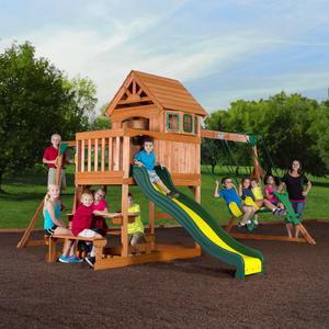 Backyard Discovery Springboro Wood Swing Set