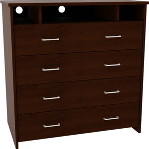 Dorel Home Furnishings Black TV Media Stand and Dresser