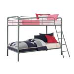 Dorel Home Furnishings Silver Twin Metal Bunk Bed