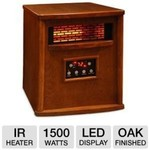 LifeSmart 4 Element Quartz Style IR Heater Oak