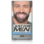 Just for Men Brush-In Color Gel for Mustache & Beard, Real Black M-55, 1 kit, Packaging May Vary (Pack of 3)