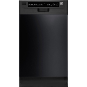 "Kenmore 18"" Built-In Dishwasher - Black"