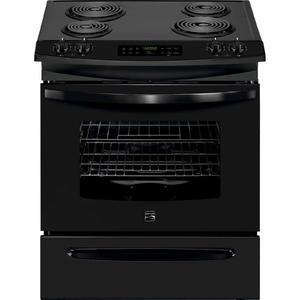 Kenmore 4.6 cu. ft. Self-Clean Slide-In Electric Range w/ Deluxe Coil Elements - Black
