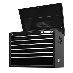 "Craftsman 27"" 9-Drawer STD DUTY Ball Bearing Slides Top Chest Black"
