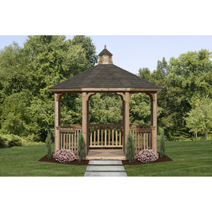 HomePlace by Suncast Octagon Cedar Gazebo Kit (12 ft.)