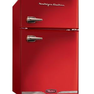 Nostalgia Electrics Retro Series 3.1-Cubic Foot Compact Refrigerator Freezer, Red