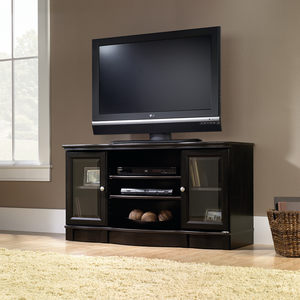 Sauder Black Regent Place Panel TV Stand